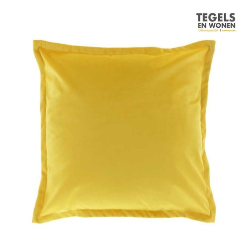 Kussen Kylie 45x45 Bamboo Yellow by Unique Living | Tegels & Wonen