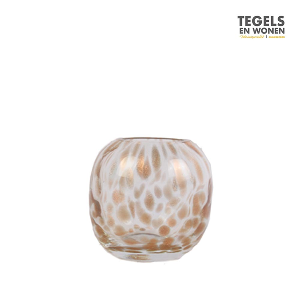 Cheetah Theelicht Tamdi 13cm transparant by House of Nature