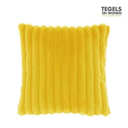 Kussen Peppe 45x45 Bamboo Yellow by Unique Living | Tegels & Wonen